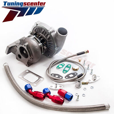 T3T4 T04E HYBIRD STAGE3 TURBO FOR FIREBIRD TRANS AM SUNFIRE  FEED RETURN LINE