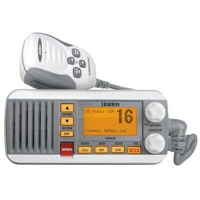 Uniden UM435 White VHF Class D DSC 25 Watt