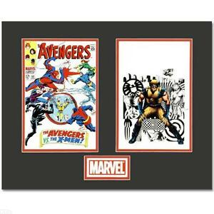 The Avengers/Wolverine Matted LIMITED EDITION Lithocel Diptych