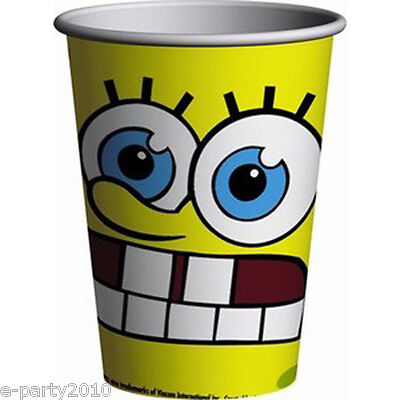 SPONGEBOB SQUAREPANTS Moods 9oz PAPER CUPS (8) ~ Birthday Party Supplies Drink