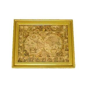 Framed world map ebay framed antique world map gumiabroncs Image collections