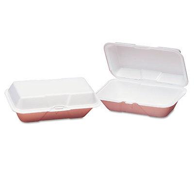 Genpak Foam Hoagie Hinged Container Large White 9-1/2x5-1/4x3-1/2 100/Bag (Hoagie Foam)