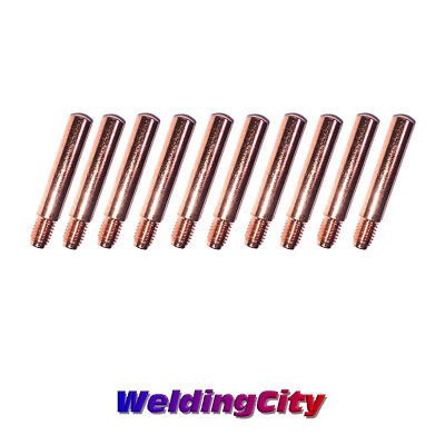 10 Mig Welding Gun Heavy Duty Contact Tips 14h-45 .045 For Lincoln Tweco 2-4