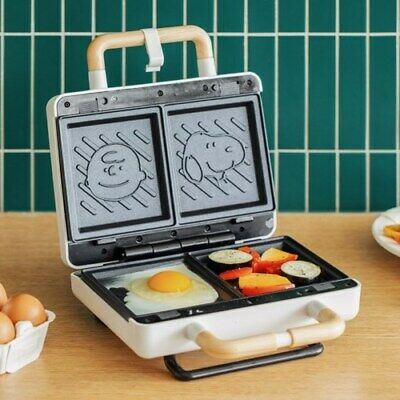 Peanuts Snoopy Retro Waffle & Sandwich Maker 2-section BJX-S003 Kitchen Cooker