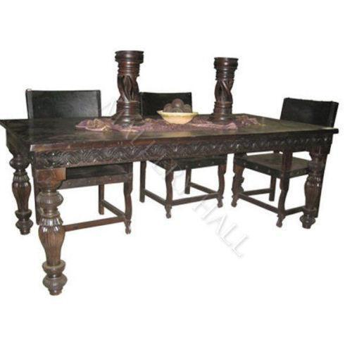 Carved Dining Table EBay