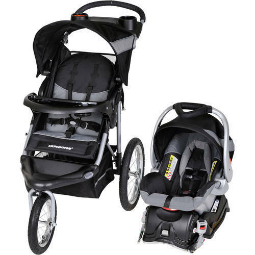 Baby Trend Expedition Jogger Stroller Lightweight Travel System Car Seat Combo
