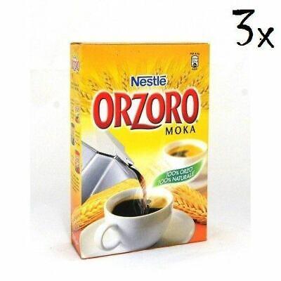 3 Nestlé Orzoro Macinato Moka Instant Soluble Barley Grain Coffee 500 g