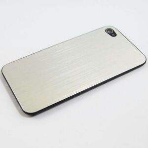 Metall Alu Backcover Iphone 4S Silber + Schraubendreher NEU