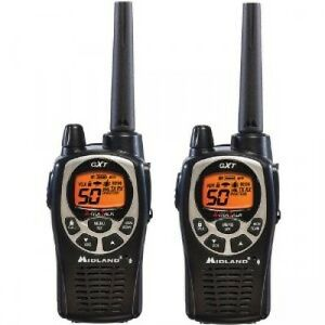 2 WALKIE TALKIE, MIDLAND GXT1000 5W WITHOUT CHARGER NI BATTERIES,GREAT REACH,VOX