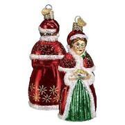 Glass Santa Ornament