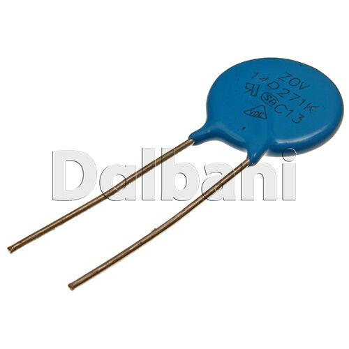 5pcs 14D271K Metal Oxide Varistor Dependent Resistor 270V 175VAC 225VDC