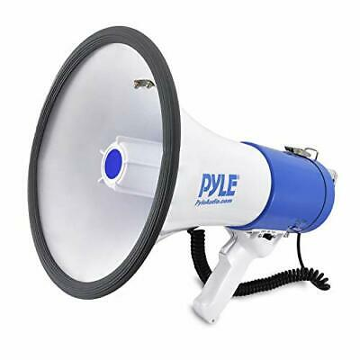 Pyle Megaphone Speaker Pa Bullhorn With Built-in Siren - 50 Watts Adjustable ...