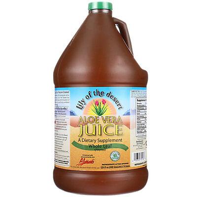 Lily Of The Desert Aloe Vera Juice - Filtered Whole Leaf (1 Gallon) Desert Whole Leaf Aloe