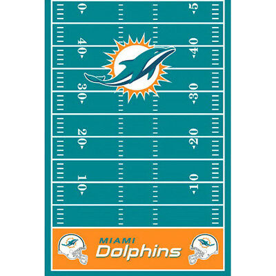 NFL MIAMI DOLPHINS PLASTIC TABLE COVER ~ Birthday Party Supplies - Party Supplies Miami