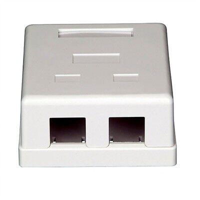 Keystone Jack Surface Mount Box - 5 pcs pack lot - 2-Port Dual Keystone Jack Surface Mount Housing Box - White