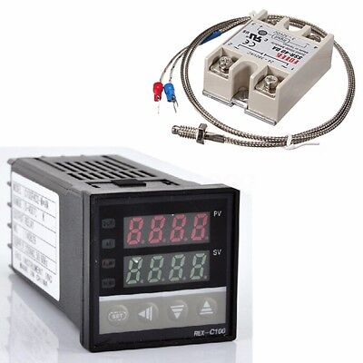 Digital 220v Pid Rex-c100 Temperature Controller Max.40a Ssr K Thermocouple