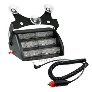 Vehicle-Car-Truck-White-18-LED-Police-Emergency-Flashing-Flash-Dash-Strobe-Light