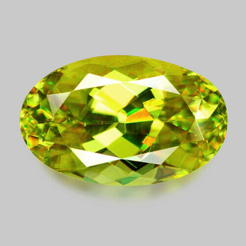 1.46cts ELONGATED OVAL CUT NATURAL CHARTREUSE YELLOW SPHENE VIDEO IN DESCRIPTION