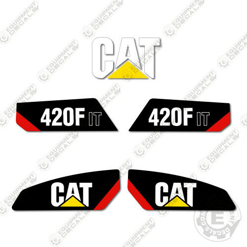 Caterpillar 420 F IT Backhoe Equipment Decals New Style
