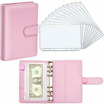 Personal Planner Binder W 12 Piece Pocket 6 Hole Zipper Folder Leather Notebook