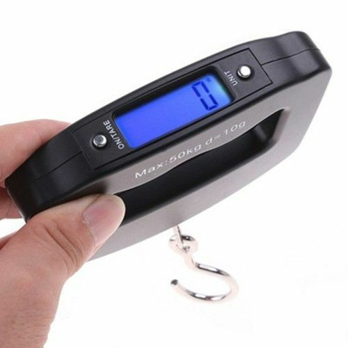 LCD Digital Electronic Portable Hanging Luggage Weight Hook Scale 50Kg/10g