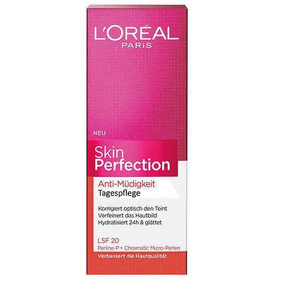 (EUR 3,14 / 10 ml) 1 x 35 ml Loreal Skin Perfection Anti Müdigkeit Tagespflege