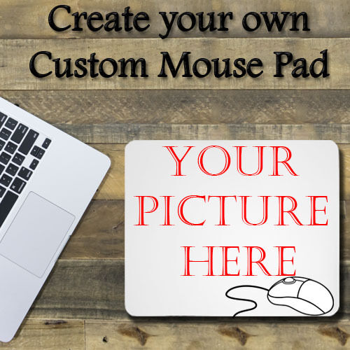 "PERSONLIZED  Custom Rectangle Cool Mouse Pad 1/8"" thick -  7.75""x9.25"" Mousepad"