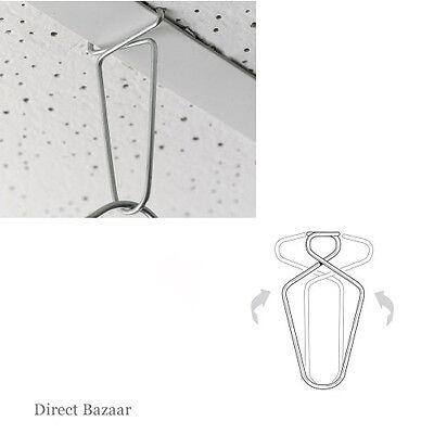 100 x Kaliper Clip Suspended Ceiling Hanger Clips, Hooks