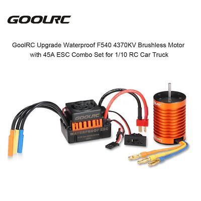 GoolRC F540 4370KV Brushless Motor with 45A ESC Combo Set for 1/10 RC Car X9E4