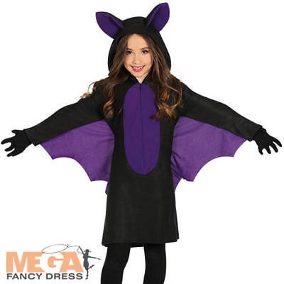 Cute Bat Girls Fancy Dress Halloween Vampire Animal Kids Childs Costume Outfit  (Cute Batgirl Costumes)