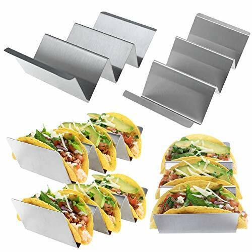 6-Pack Taco Holder Stand Stainless Steel Metal Taco Baker Rack Oven