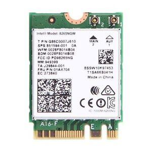 Intel Wireless-AC 8265 NGFF Dual Band 802.11ac 867Mbps WiFi + Bl