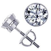 Bezel Set Diamond Earrings