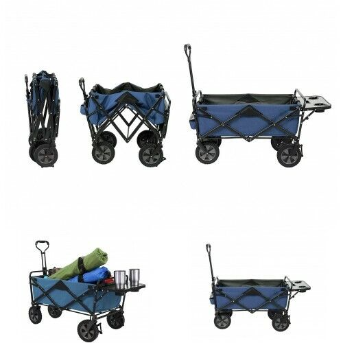 Collapsible Folding Wagon Utility Cart w/ Table Mac Supplies