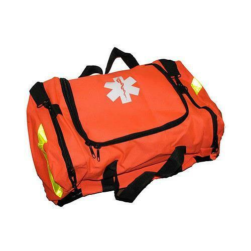 First Responder Paramedic Rescue EMT Trauma Bag ORANGE Padded Dividers