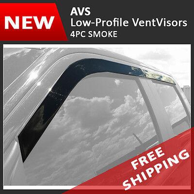 17-19 Ford F-250 F-350 Crew Cab AVS LOW PROFILE Window Visors Rain (Ford Low Cab)