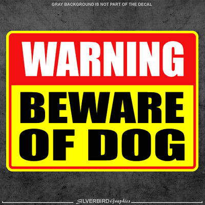 Beware of Dog sticker  caution  warning  door  window  animal  vinyl decal