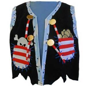 Kids Costumes Pirate Vest with REAL buttons and pockets NEW Yarramalong Wyong Area Preview
