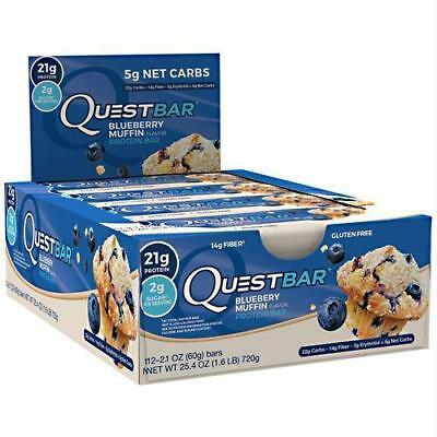 Quest Nutrition Blueberry Muffin  12 In A Box Exp 5 22 18