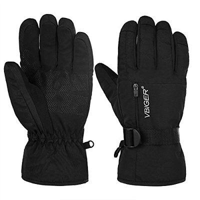 Warme Winter-handschuhe (Vbiger Winter Handschuhe Warme Handschuhe Sport Handschuhe Skihandschuhe Schwarz)