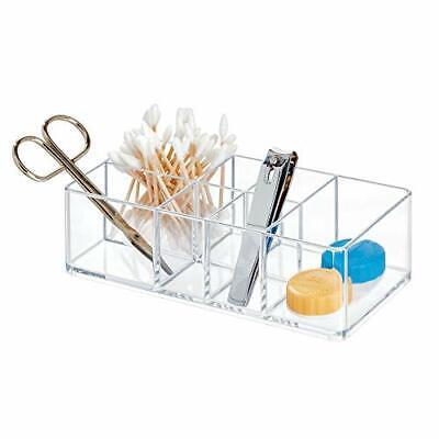 iDesign Medicine Storage Box for Bathroom and Medicine Cabinet, Small Plastic