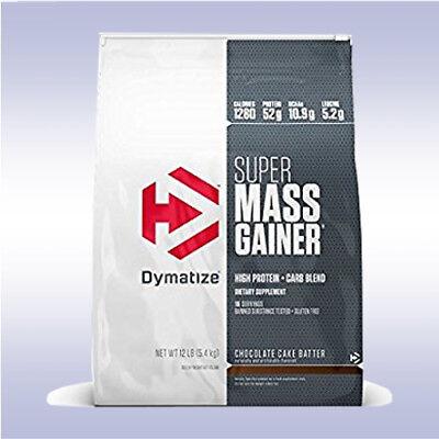 DYMATIZE SUPER MASS GAINER (12 LB) protein creatine bcaa iso-100 l-carnitine xt