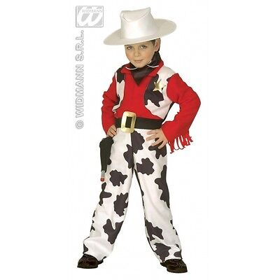 CARNEVALE COSTUME VESTITO COWBOY BAMBINO 4/5 ANNI