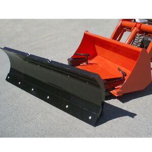 "72"" clamp on bucket snow plow"