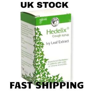 Hedelix 100ml. Cough Syrup,Bronchitis HERBAL - For Infants, Children & Adults