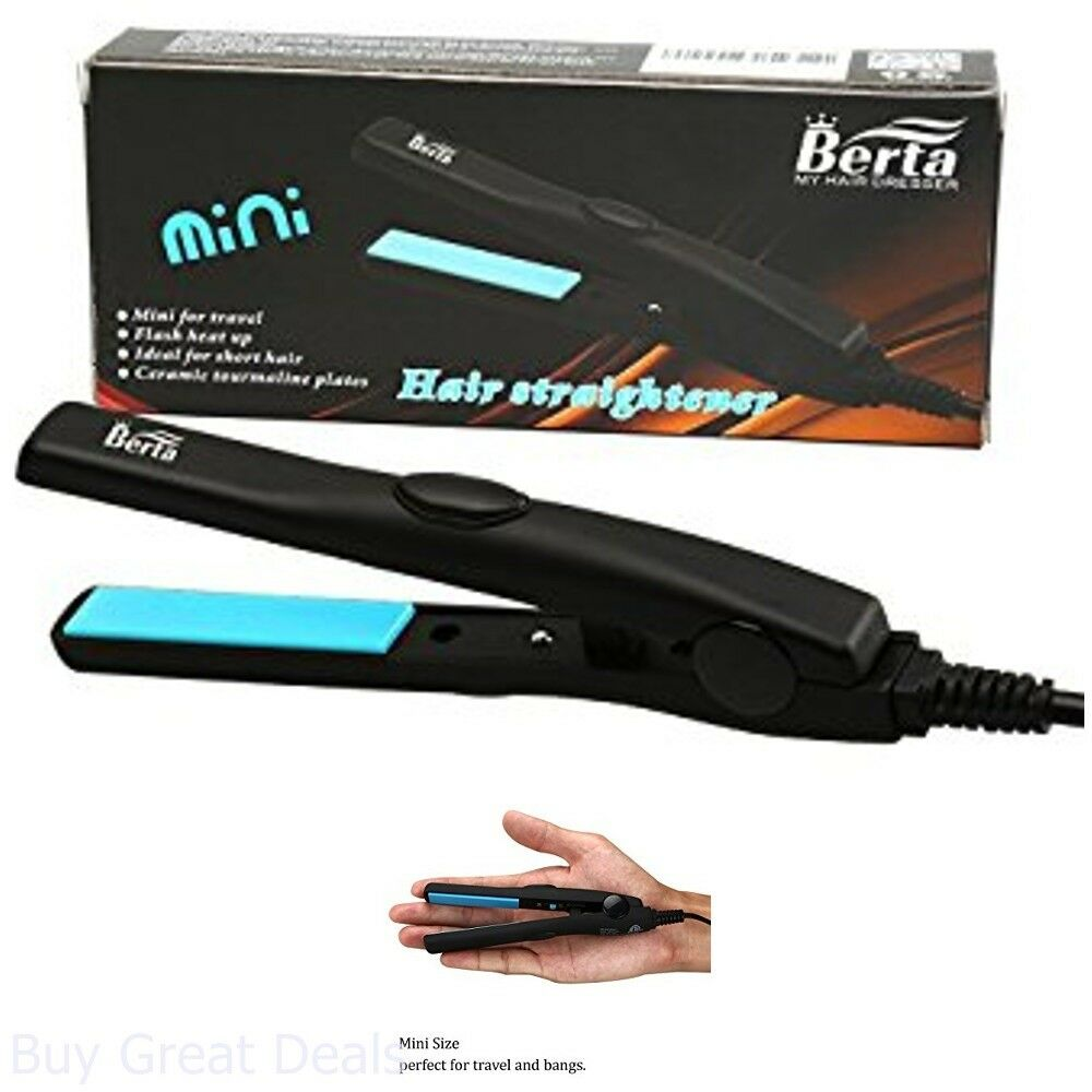 Details about Flat Iron Wand Mini Hair Straightener Ceramic Tourmaline Hair For Travel US New