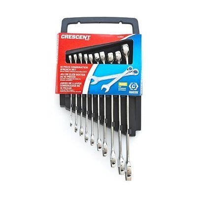 Crescent CCWS2 SAE Combination Wrench Set, 10 Piece, New, Free Shipping