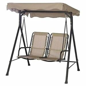 Target home 2 seat comfort swing with canopy outdoor patio shade furniture new ebay - Target shade canopy ...