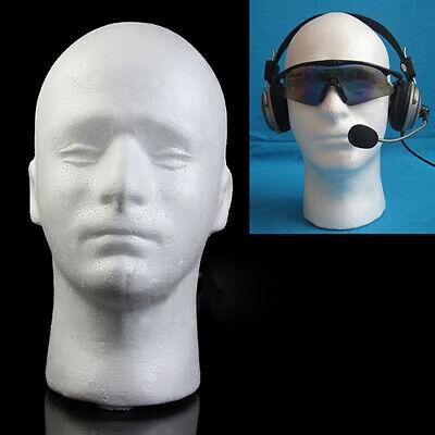 Male Mannequin Styrofoam Foam Manikin Head Model Wig Glasses Display Stand Cosy ()