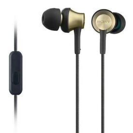 Original Sony MDR-EX650 Earphones with Brass Housing, Smartphone Mic and Control